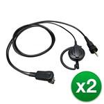 Kenwood EMC-13W (2-Pack) Kenwood EMC-13W Clip mic with earphone